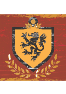 lion sheild flag