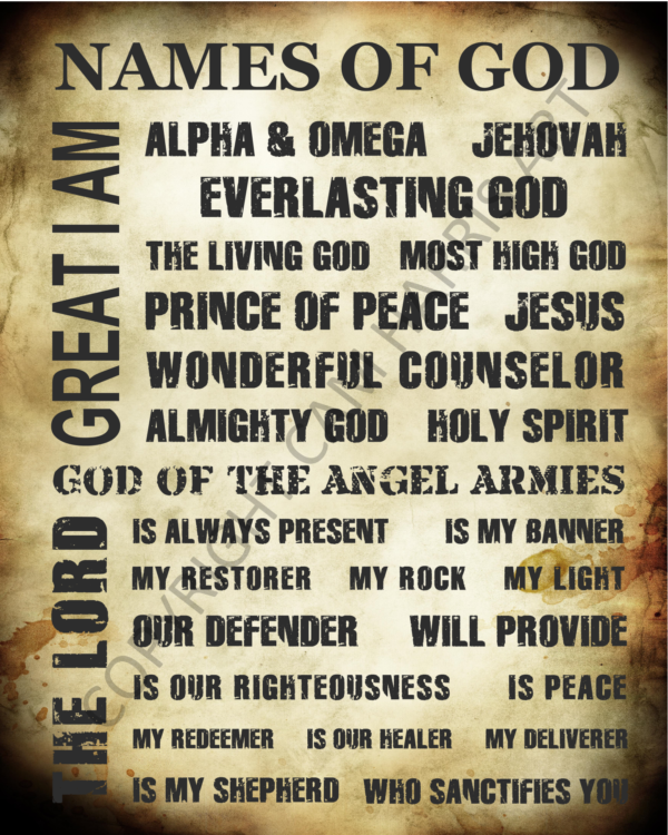 Names of God Wall Art