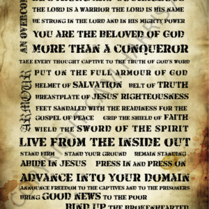 Warrior Manifesto Wall Art 24 x 36