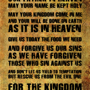 Lord's Prayer Wall Art 24 x 36