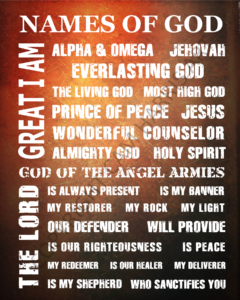 Names of God Wall Art 16 x 20